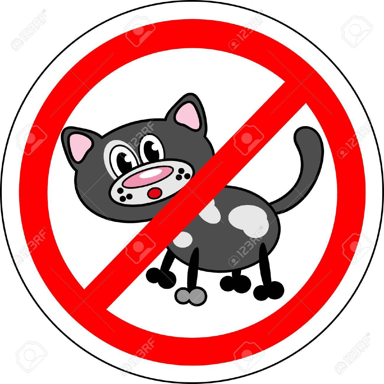 Sign no cats Banque d'images - 25880488