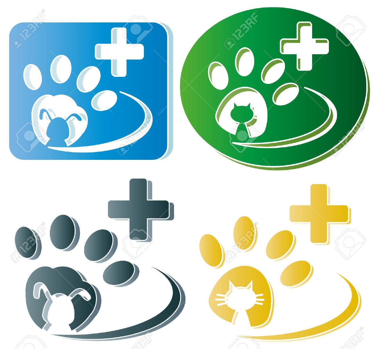 Creative design of dog and cat paw Banque d'images - 27665203