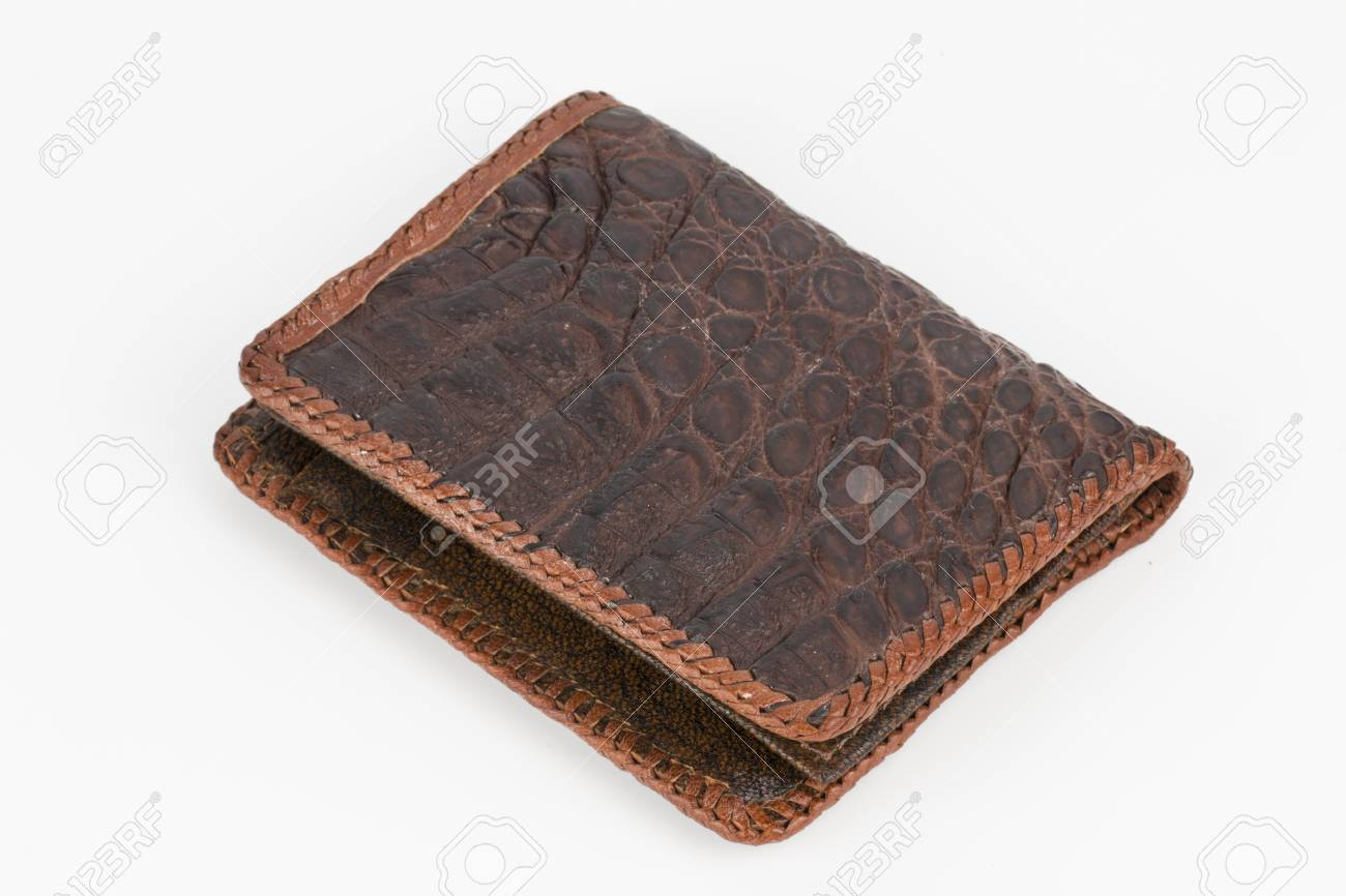 d77aaa75f Hand Made Purse From Alligator Skin Stock Photo, Picture And Royalty ...