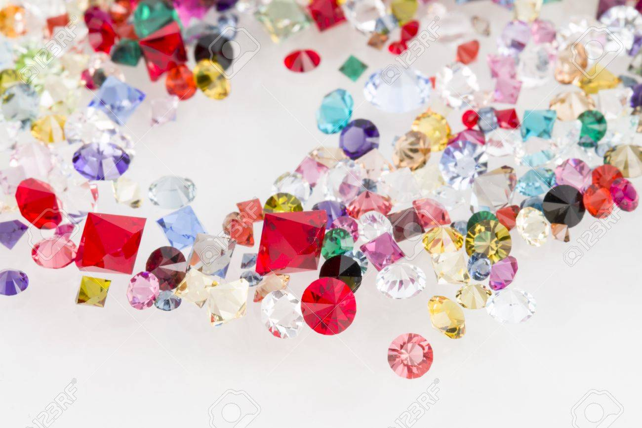 Collection of many different natural gemstones Banque d'images - 28626941