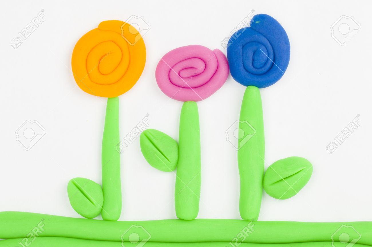 Plasticine fleurs Banque d'images - 29414285