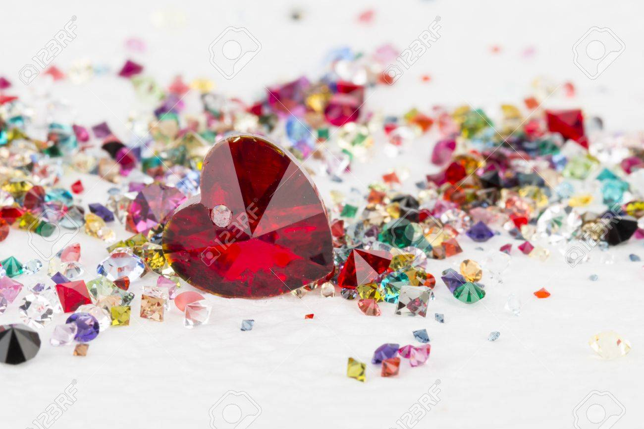 Collection of many different natural gemstones. Stock Image macro. Banque d'images - 40649867