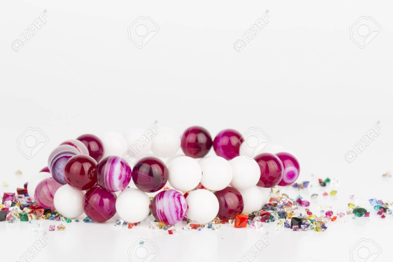 Homemade bead jewelry - Stock Image. Banque d'images - 41035146
