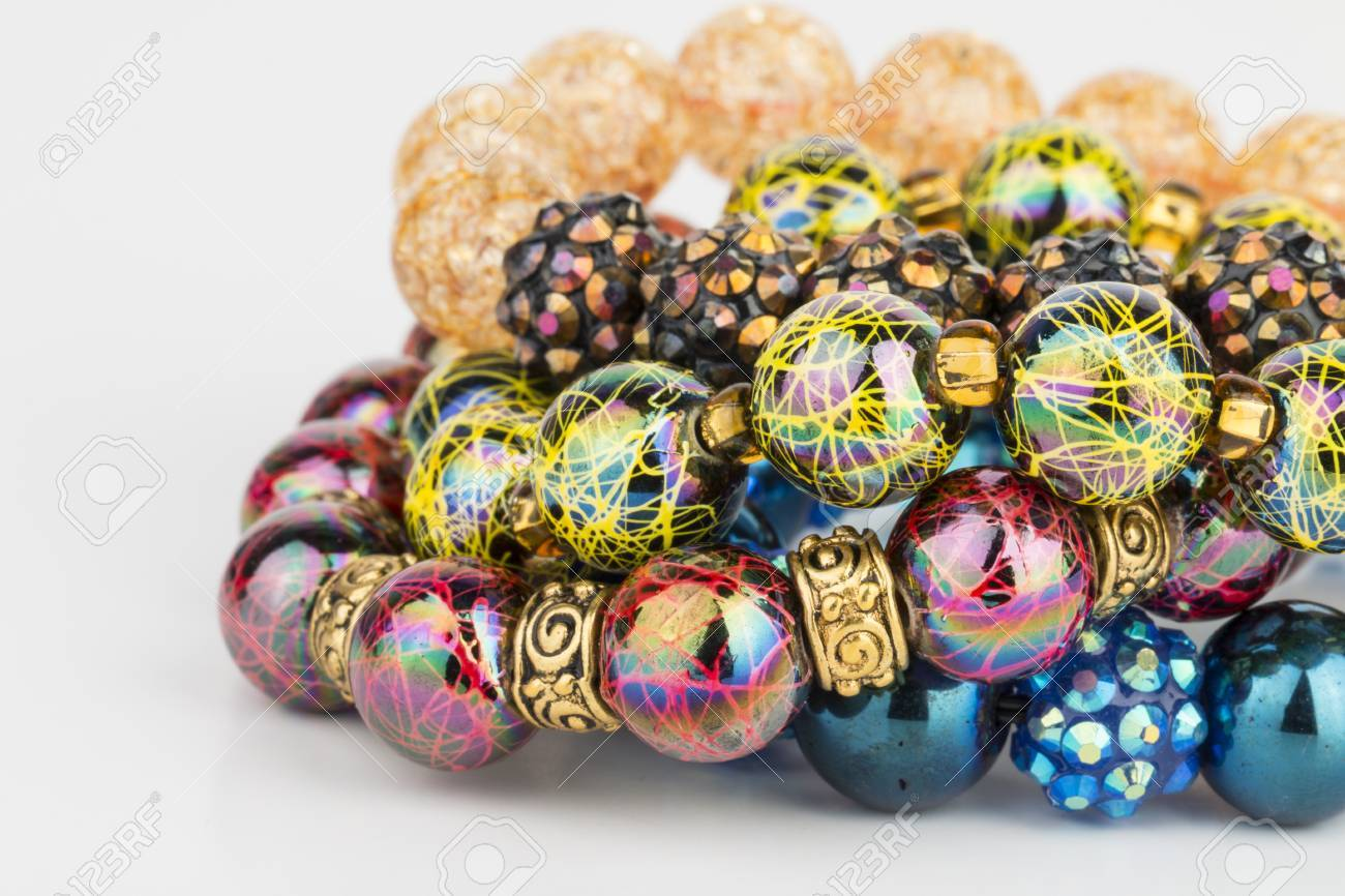 Homemade bead jewelry - Stock Image. Banque d'images - 41177086