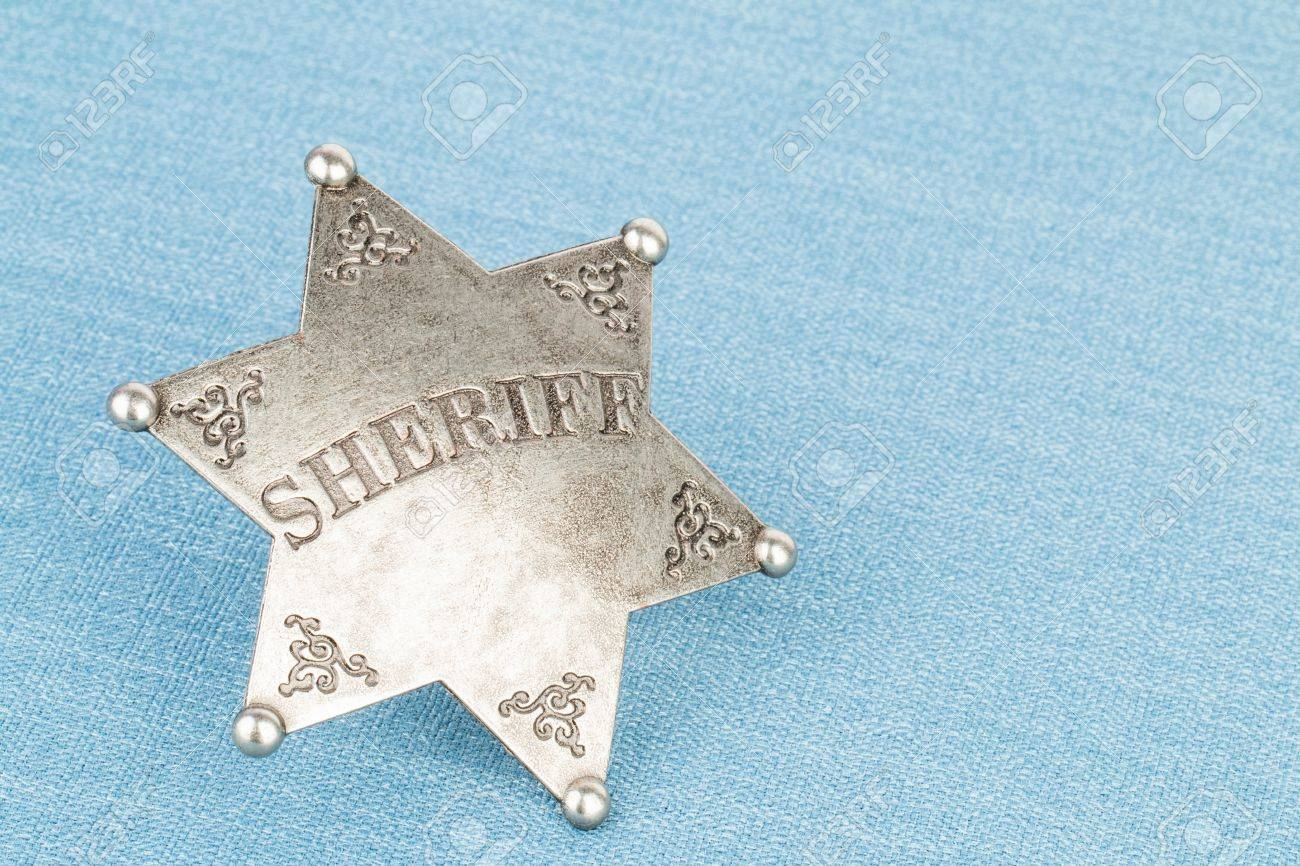Sheriff badge - Stock image macro. Banque d'images - 43491597