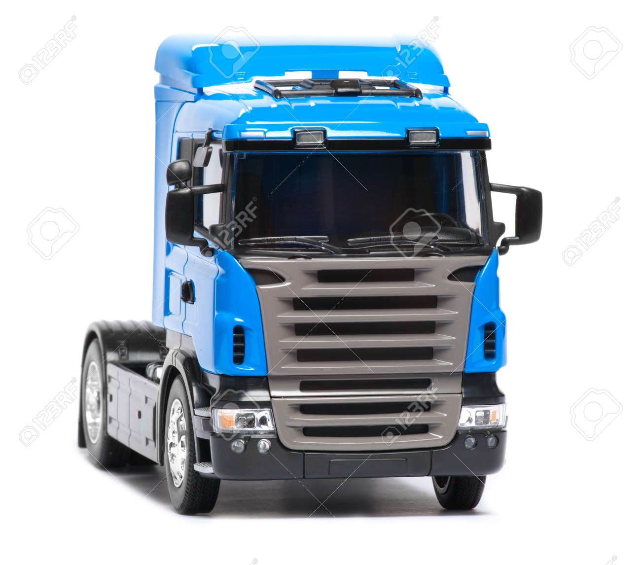 toy heavy truck isolated over white background Stock Photo - 8953389