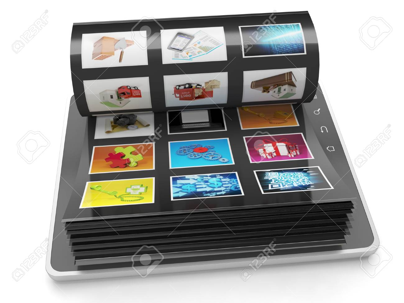 Image Gallery of the Tablet PC. Tablet PC sheets with images Stock Photo - 17365581