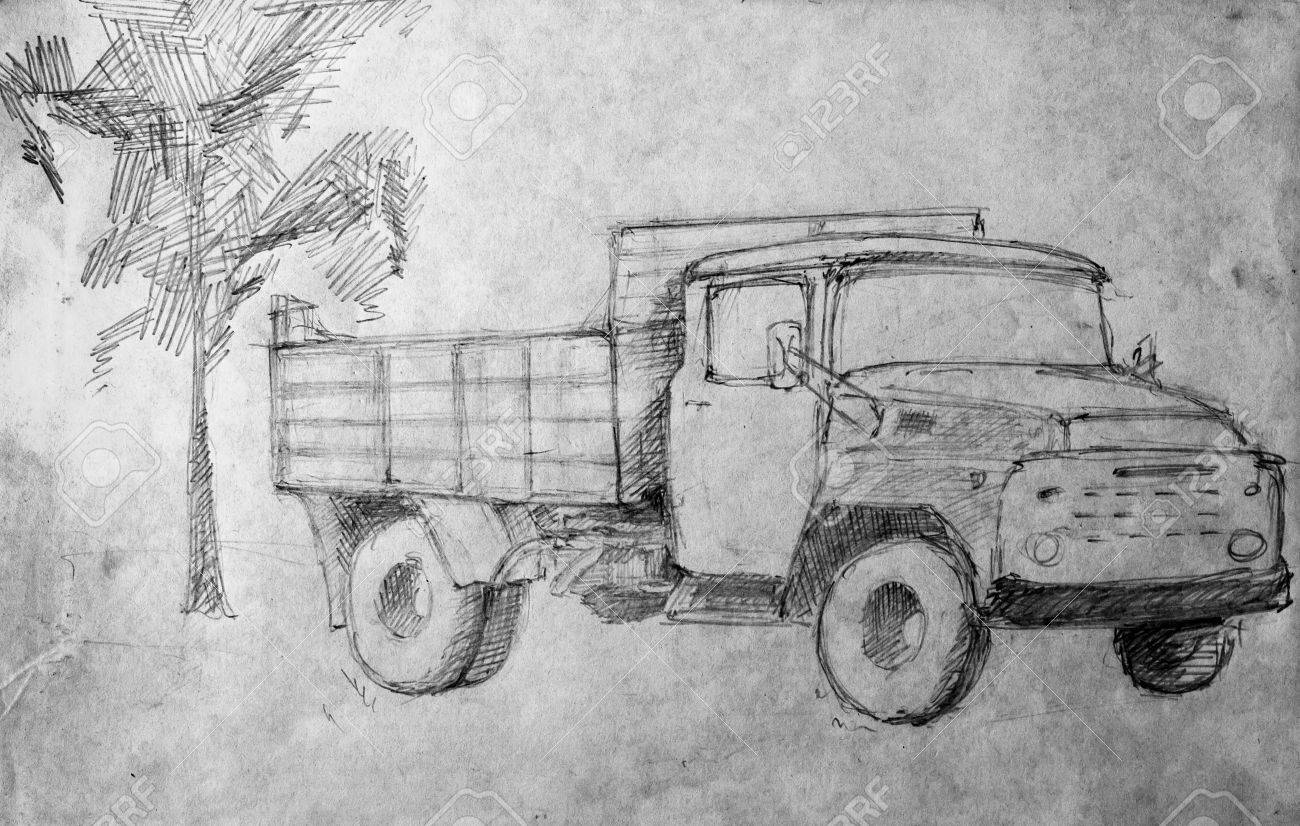 Car Pencil Drawing Stock Photo Picture And Royalty Free Image