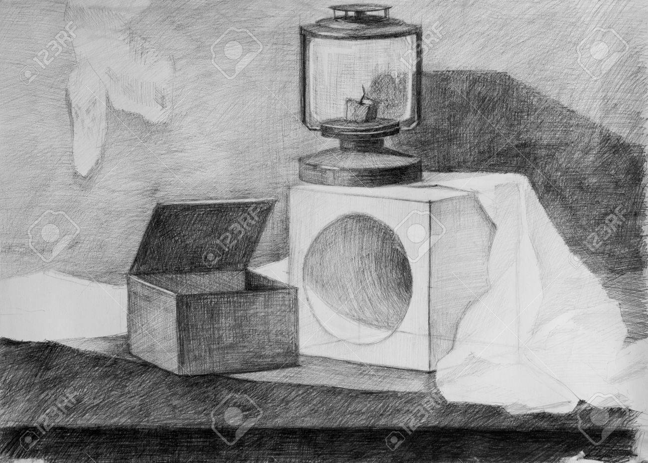 Still life pencil drawing for your design