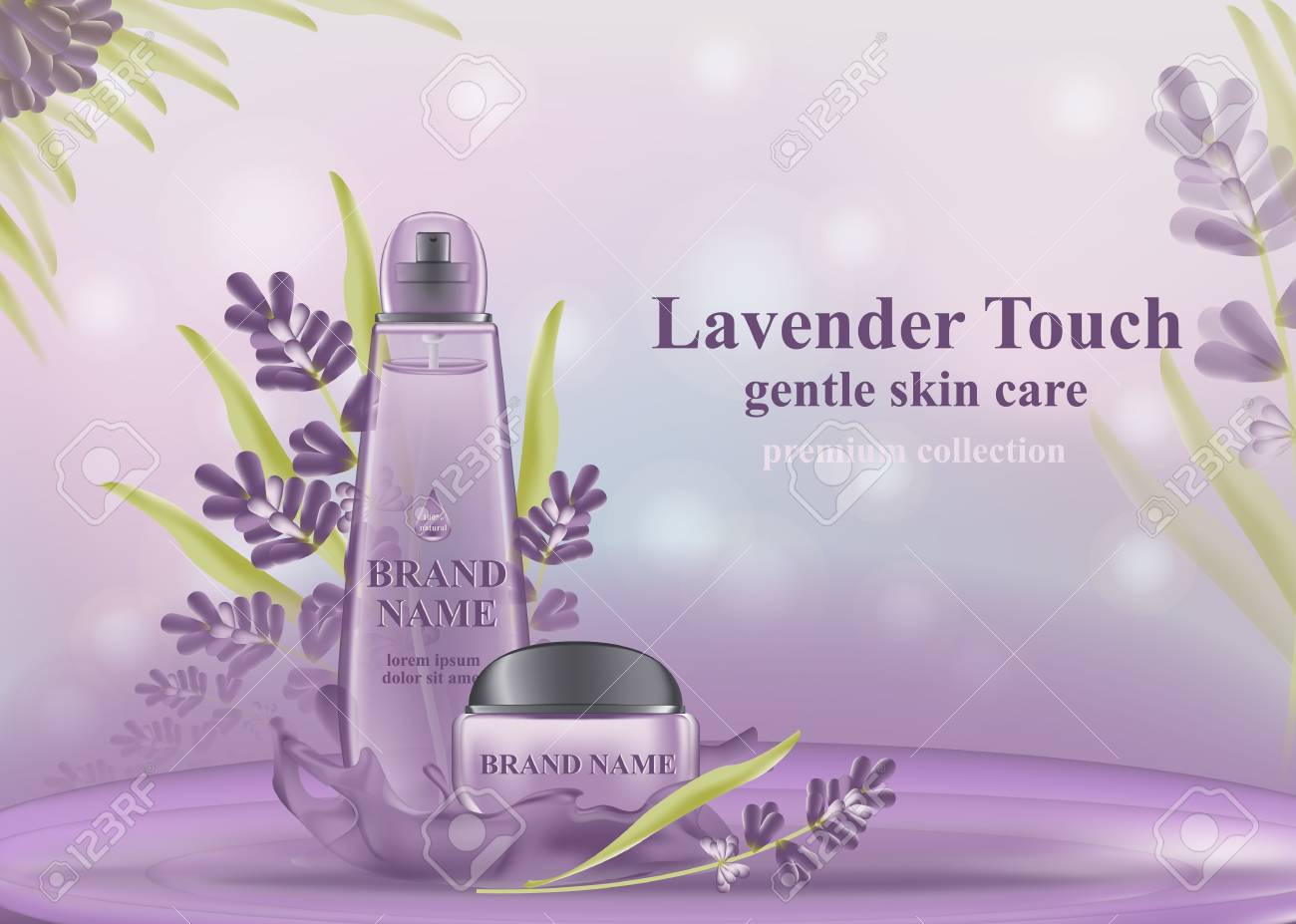 Cosmetic Banner With 3d Realistic Bottles For Skincare Cream Royalty Free Cliparts Vectors And Stock Illustration Image 115606138
