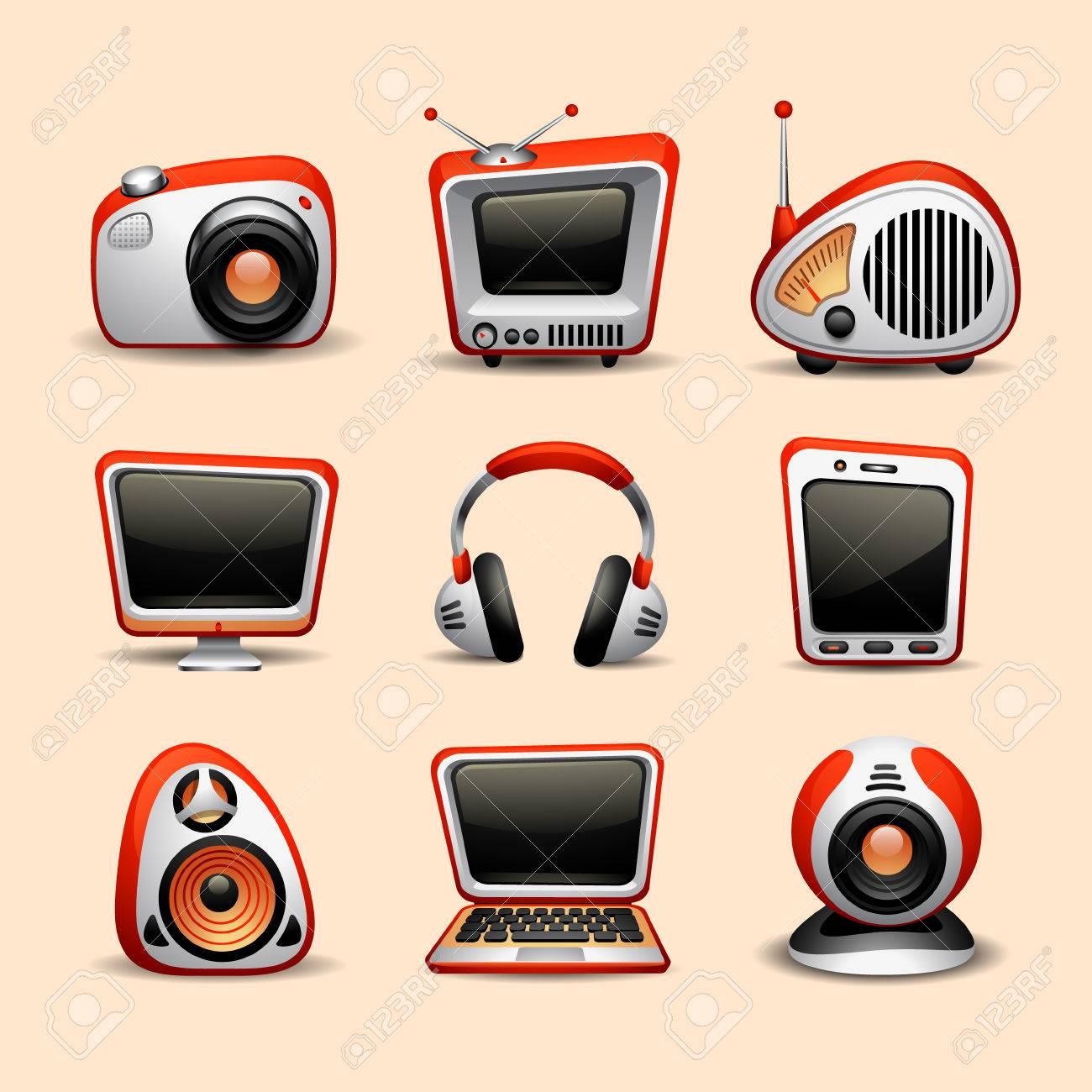 multimedia icons - 36274611