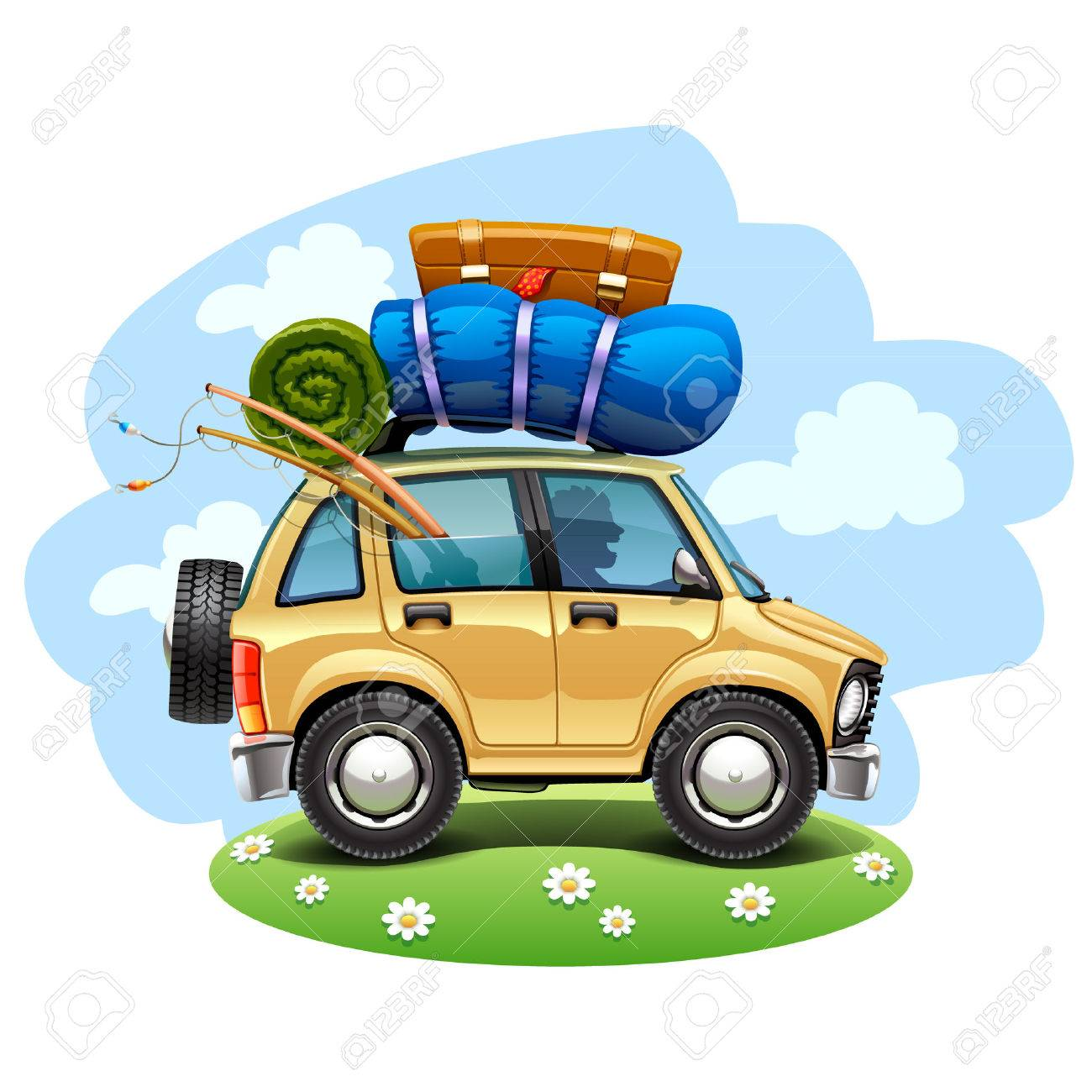 Travel Car Stock Vector
