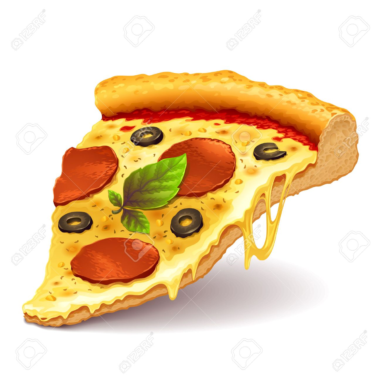 cheesy pizza slice royalty free cliparts vectors and stock rh 123rf com pizza slice vector png pizza slice vector black and white