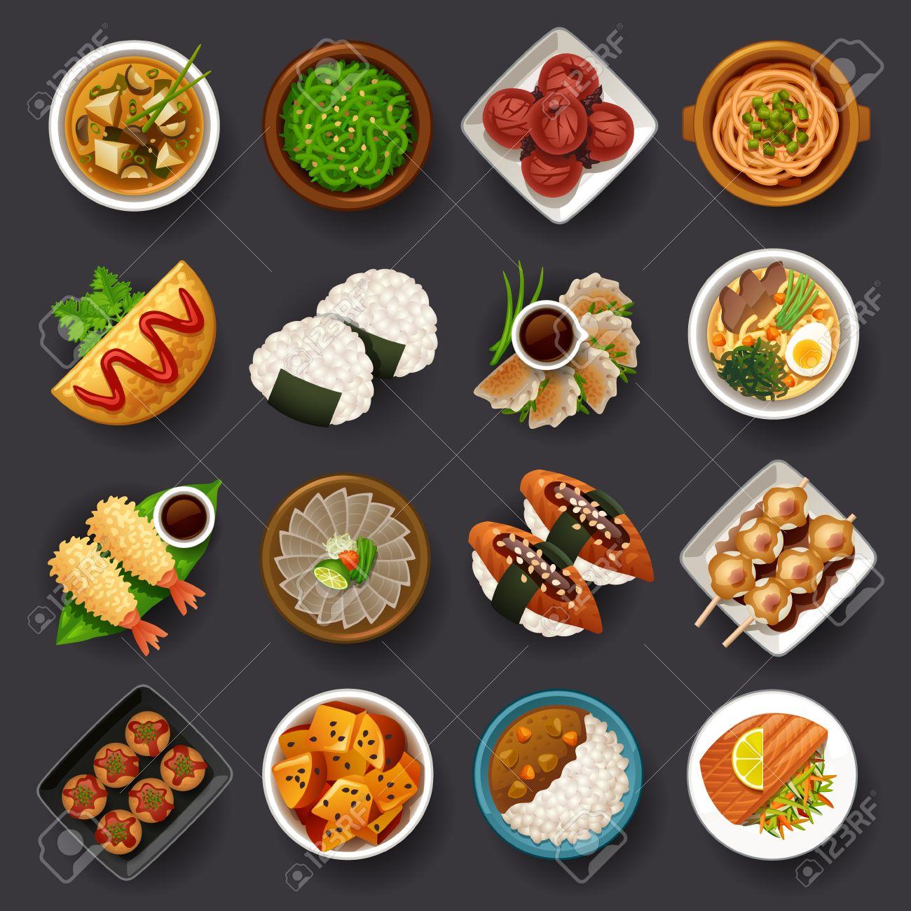 Japanese food icon set - 64941649