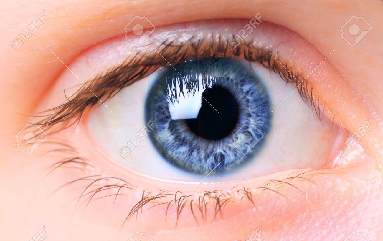 Women eye, close-up, painted blue Stock Photo - 7466626
