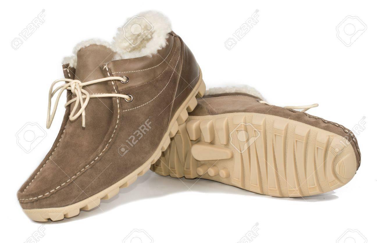 marron l'usure avec de Casual hommes plate semelle chaussures par lacets froid pour quotidienne doublé fourrure cuir pour confort temps de en une et 3jLq54ARc
