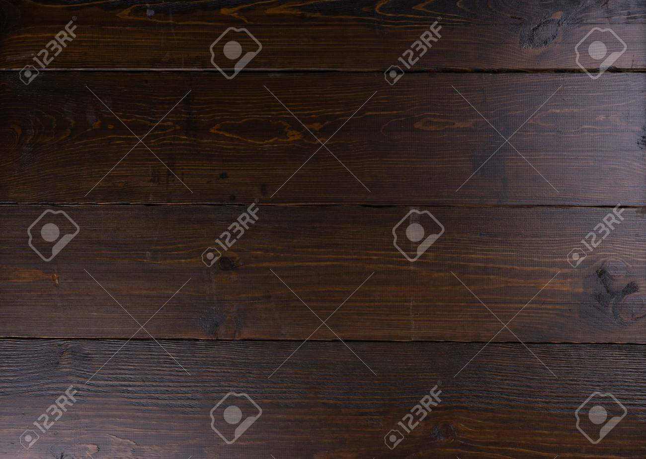 Finished And Stained Blank Dark Wood Panel Background With Fine Grain Copy Space Stock Photo