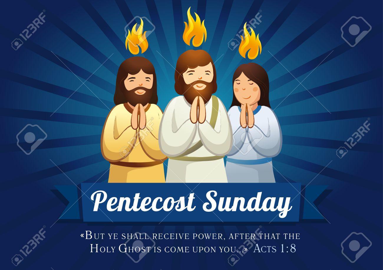 Pentecost sunday banner - 56089151