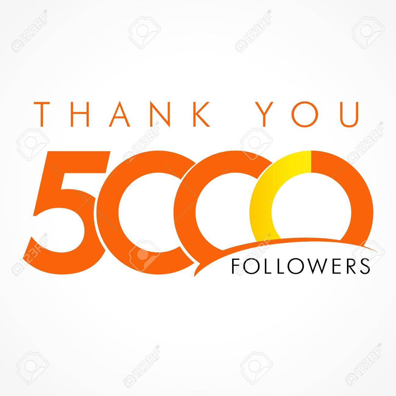 Thank you 5000 followers the thanks card for network friends thank you 5000 followers the thanks card for network friends with 5000 numbers text altavistaventures Images