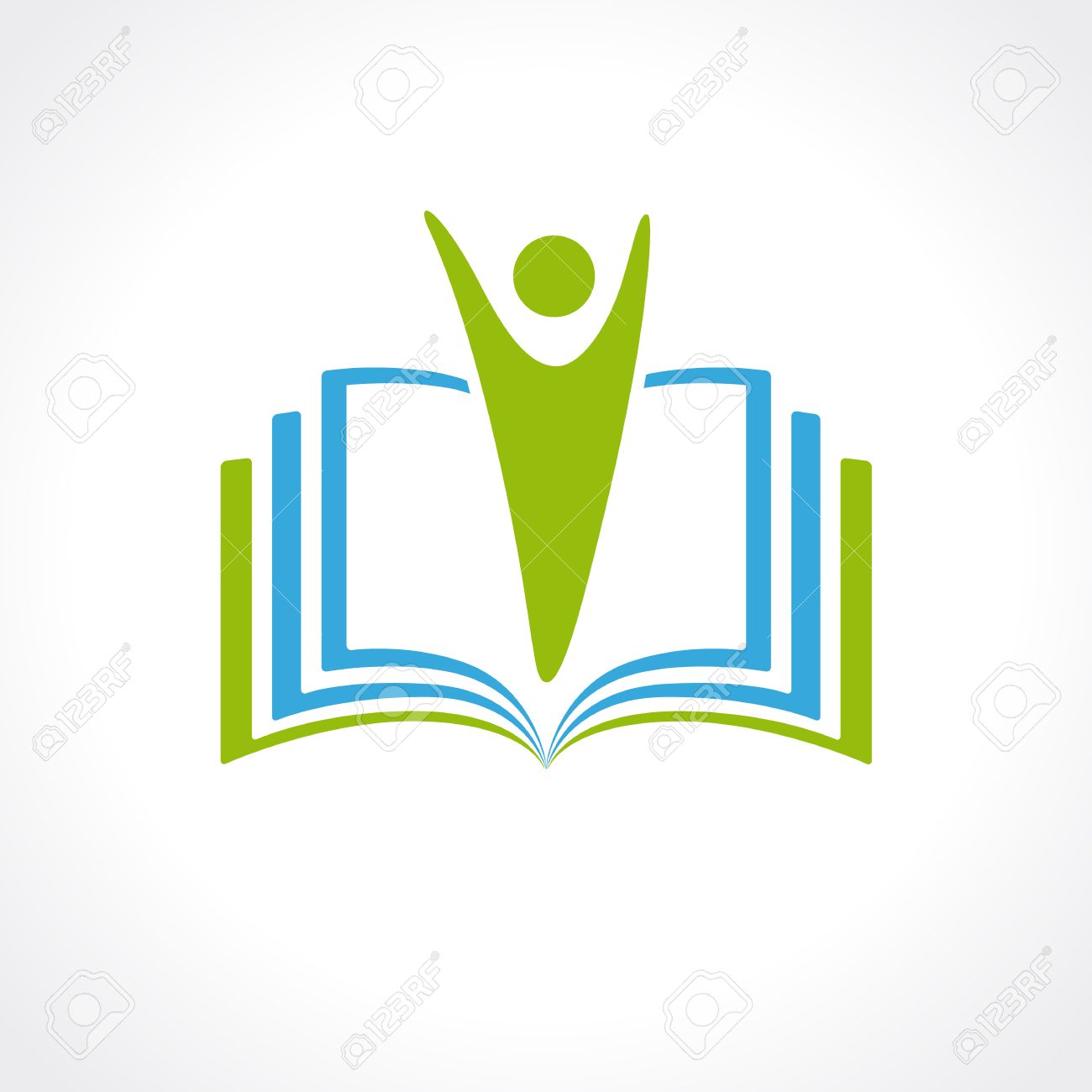 education vector logo template open book and human education rh 123rf com open book logo png open book logo png