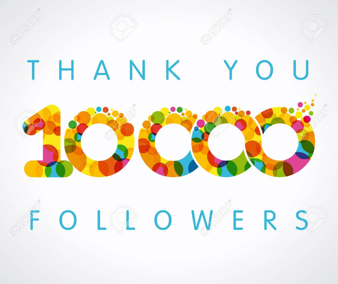 Thank you 10000 followers color numbers the vector thanks card thank you 10000 followers color numbers the vector thanks card for network 10000 friends with altavistaventures Images