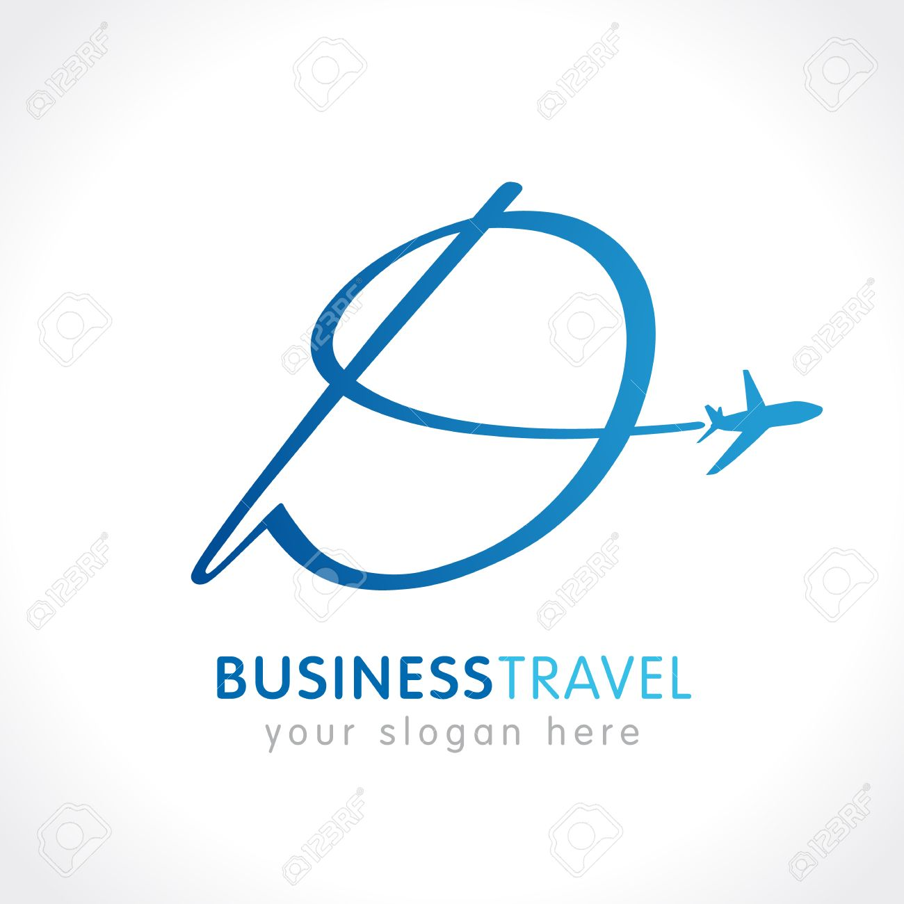 D Business Travel Company Logo Airline Business Travel Logo