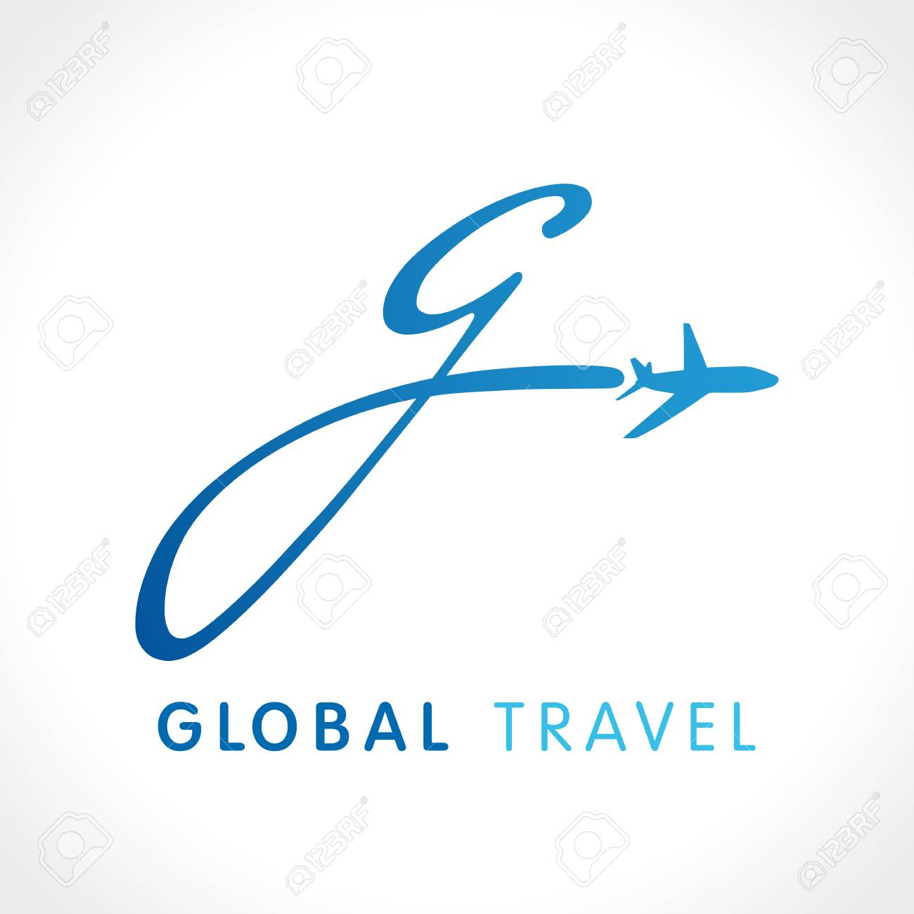 G Fly Travel Company Logo Airline Global Business Design With Letter