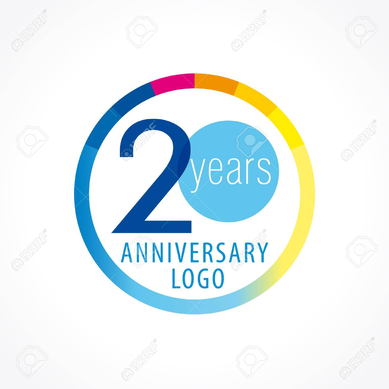 20th Anniversary Logo Numbers Of Birthday Years Icon In The