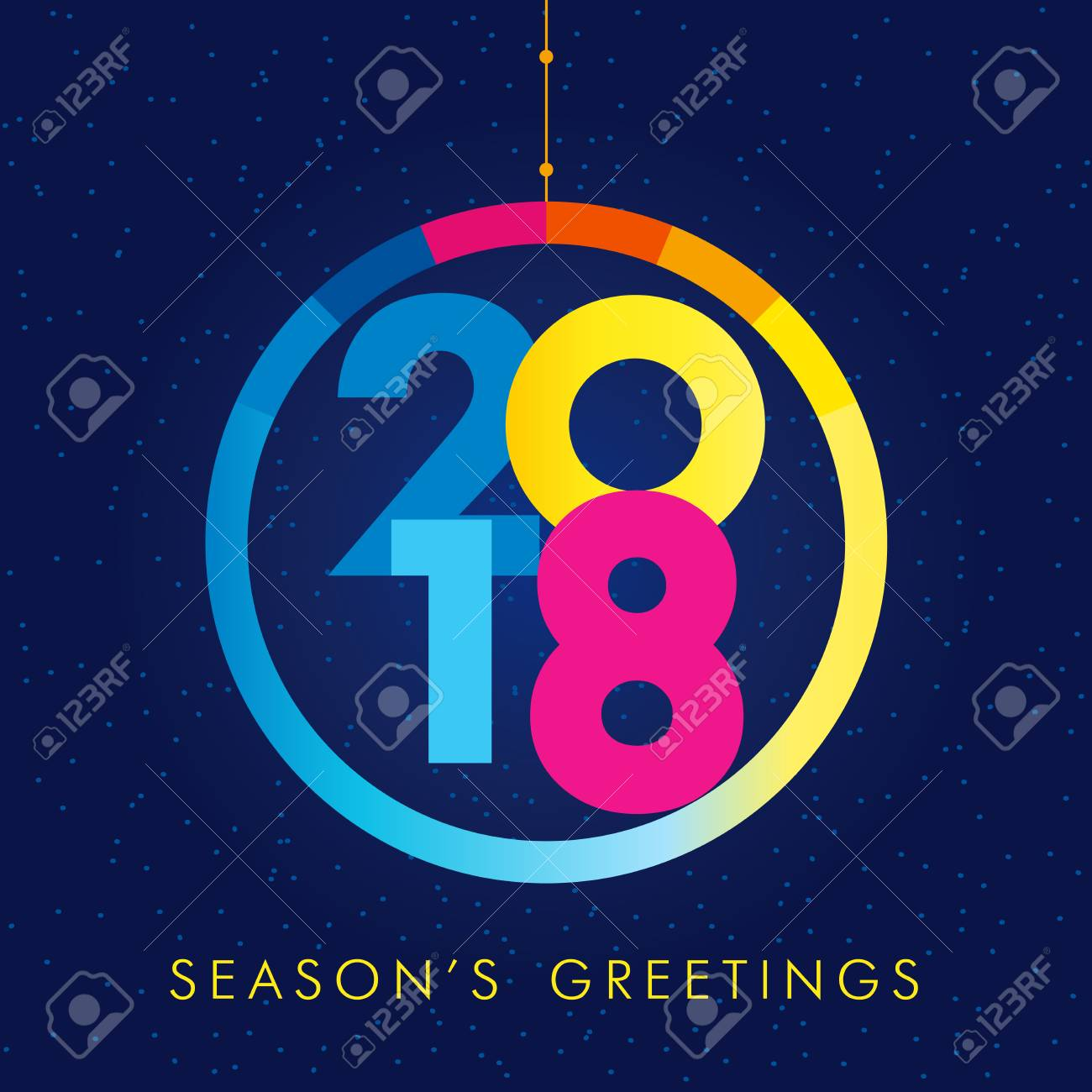 2018 seasons greetings happy new year card christmas ball 2018 seasons greetings happy new year card christmas ball consisting of colored vector 2018 numbers kristyandbryce Image collections