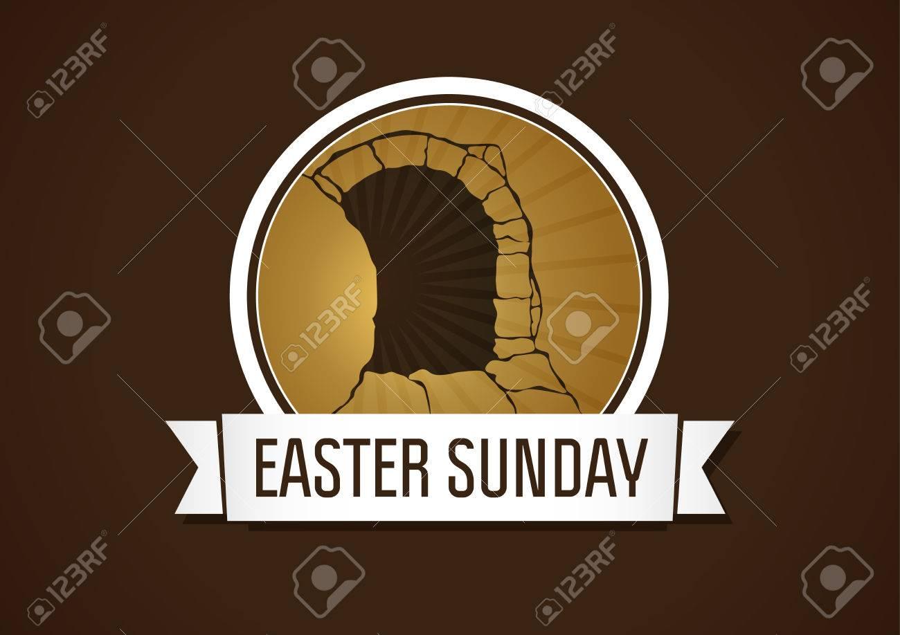 Ostersonntag, Heilige Woche, Vektorkarte. Glückliche Feiertagsgrüße ...