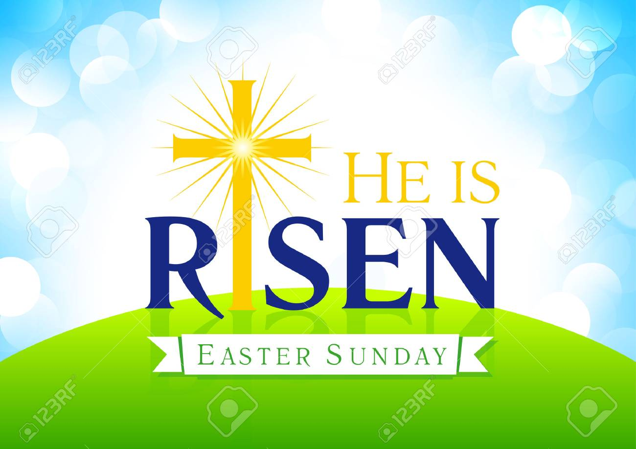 He is risen easter sunday holy week vector card happy holiday easter sunday holy week vector card happy holiday greetings m4hsunfo