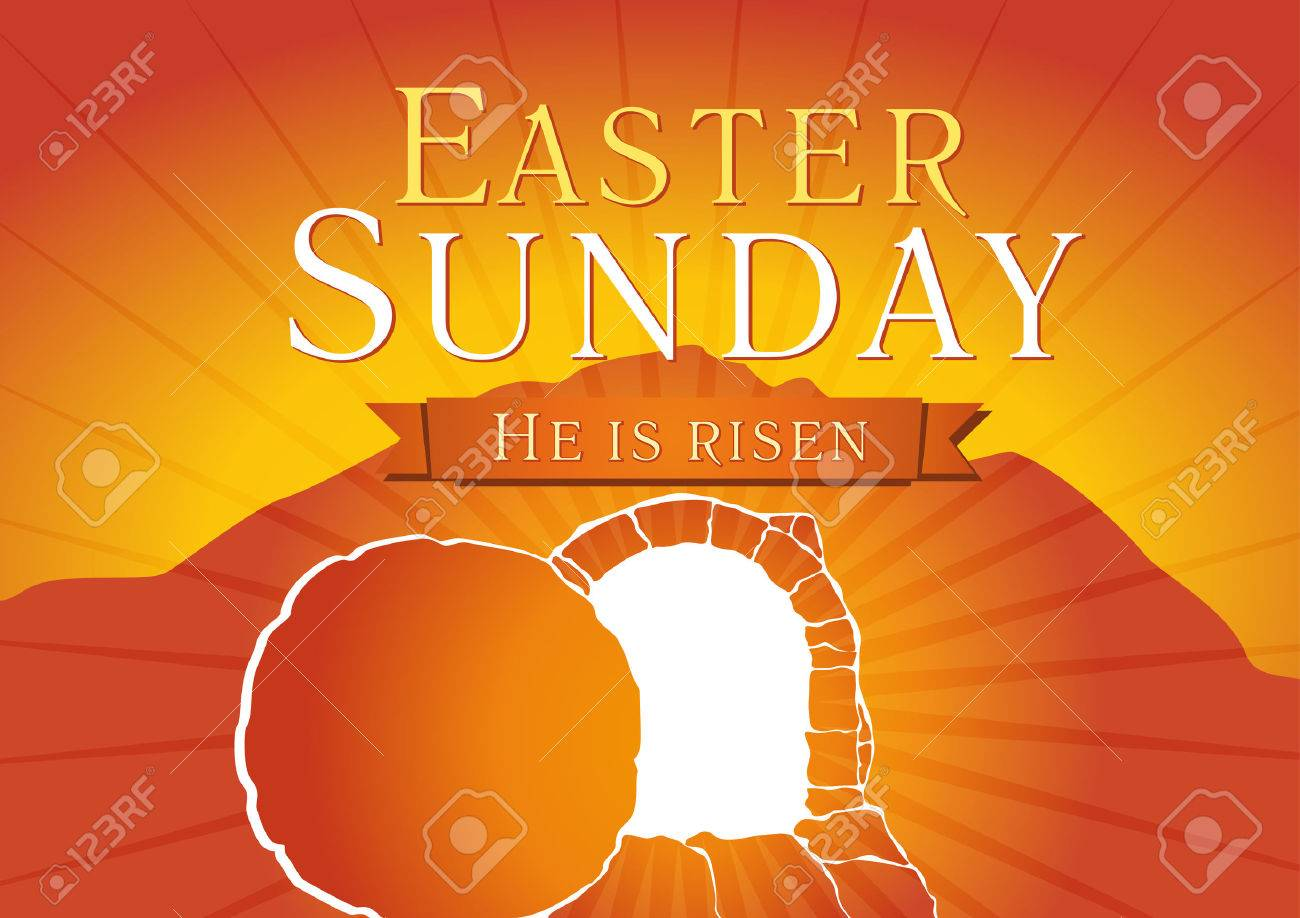 Easter sunday he is risen greetings invite vector card calvary easter sunday he is risen greetings invite vector card calvary sunrise kristyandbryce Images