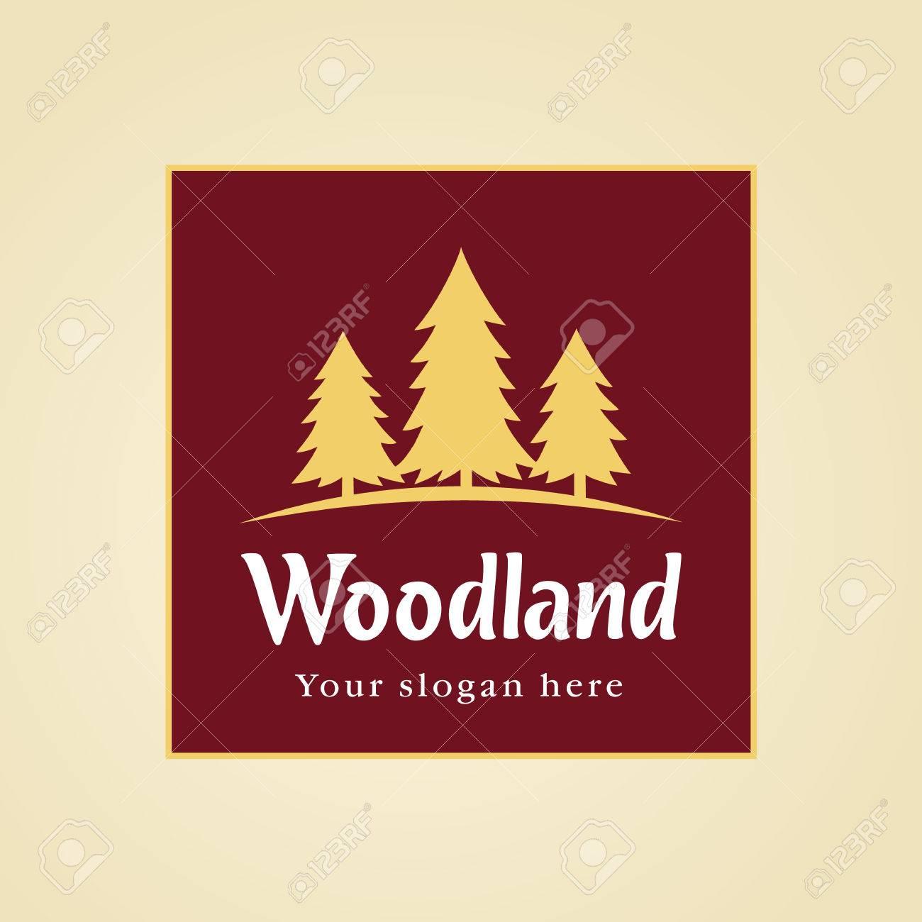 Wood Land Vector Logo Landscaping Business Company Garden Service