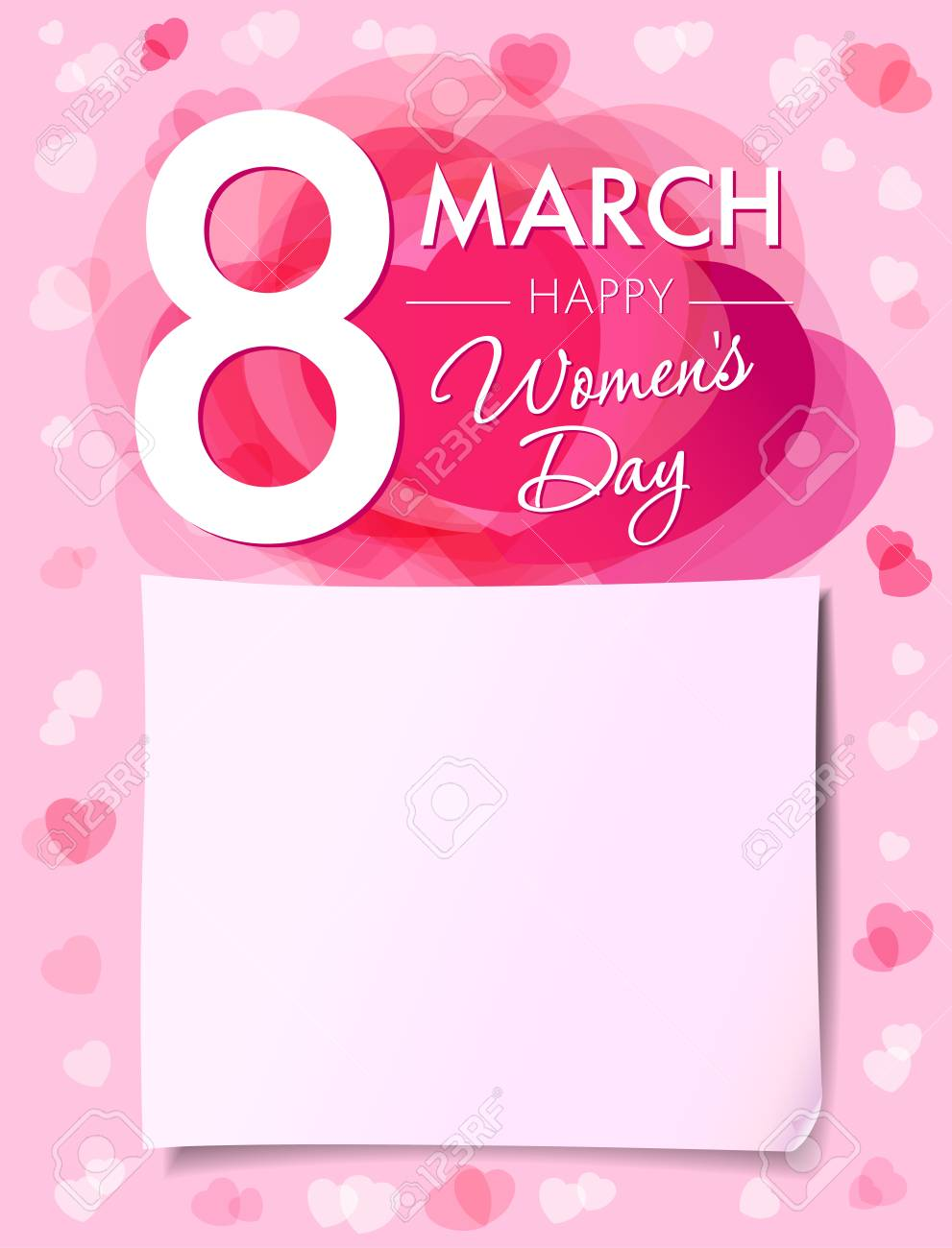 Happy womens day 8 march flyer 8 march womens day greeting happy womens day 8 march flyer 8 march womens day greeting card template with vector m4hsunfo