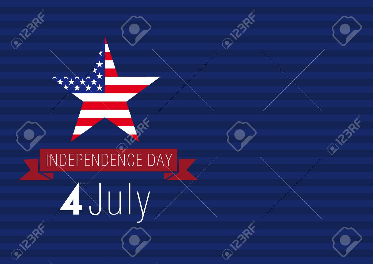 Independence Day Usa Vector Card 4 Th Of July Traditional