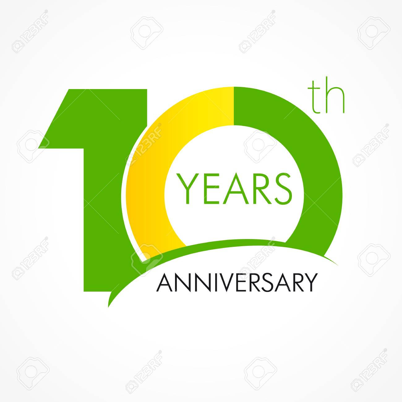 10 Years Old Celebrating Classic Logo Anniversary Year Of 10