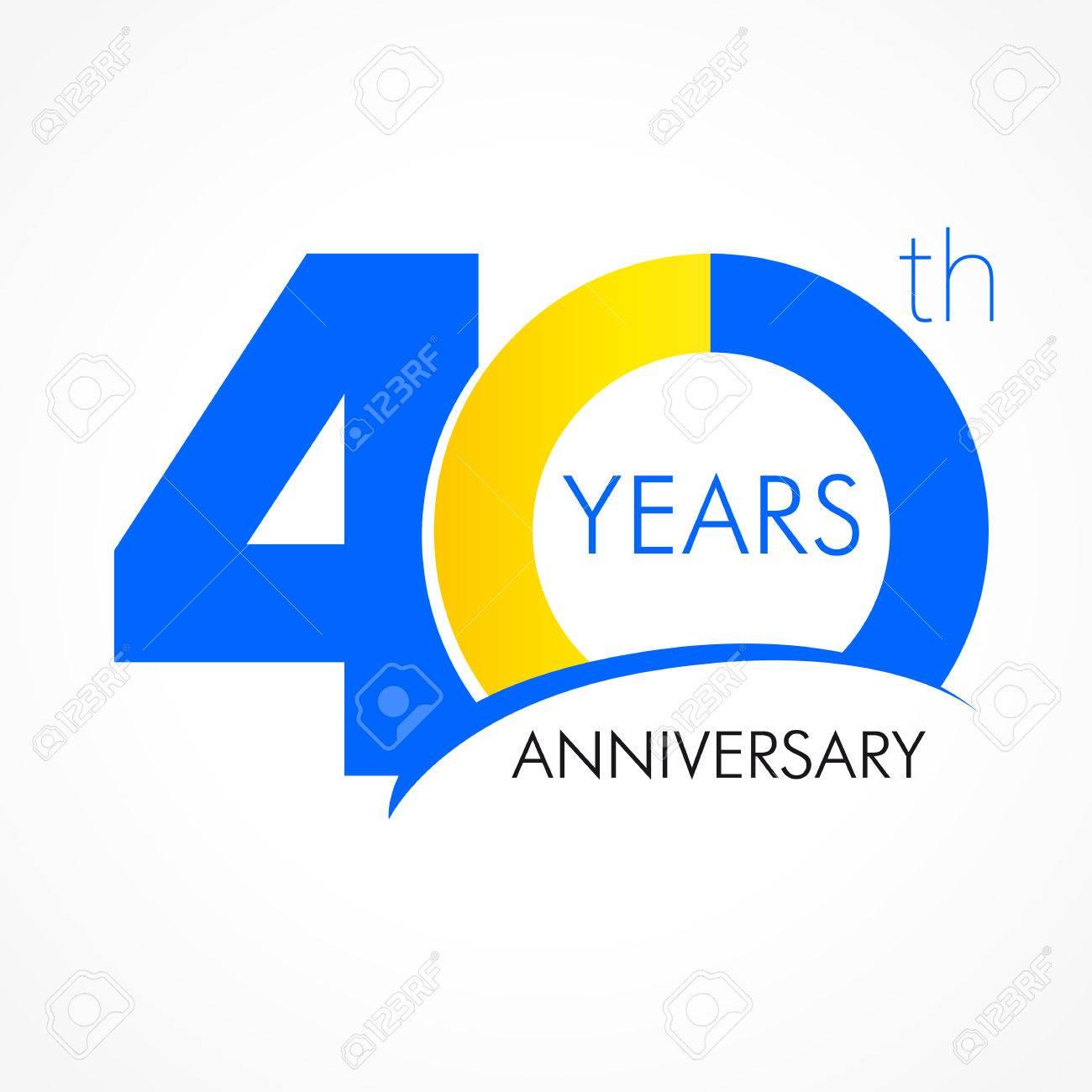 40 Anni Che Celebra Il Logo Classico Anniversario Anno Del Modello Vettoriale 40 Auguri Di Compleanno Celebra Cifre Tradizionali Di Età