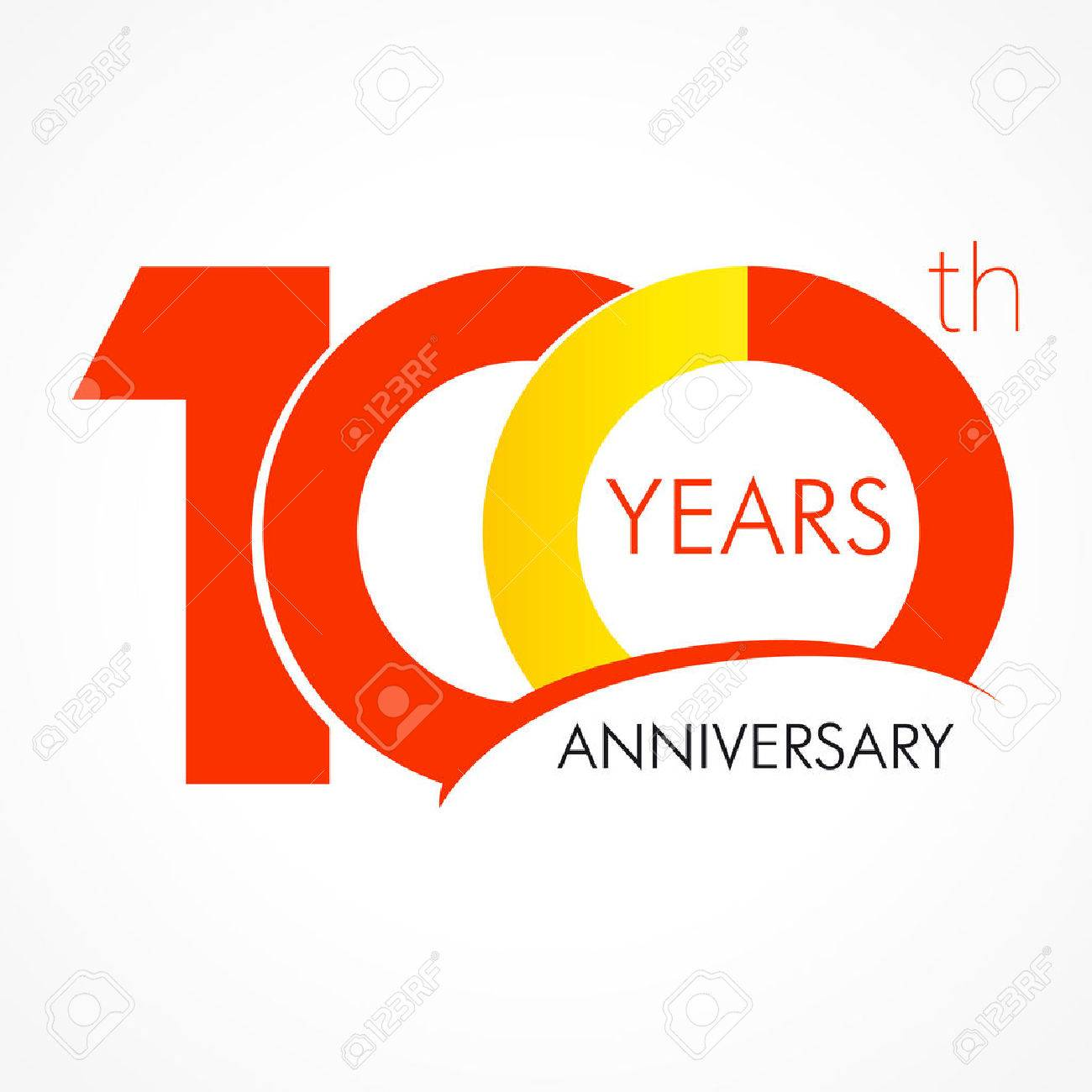 100 Years Old Celebrating Classic Logo Anniversary Year Of 100