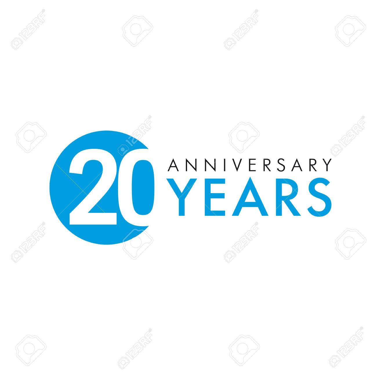 Logo Rond âgé De 20 Ans Année Danniversaire Des Numéros De Bannière De Vecteur 20 E Cercle De Voeux Danniversaire Célèbre Célébrer Les