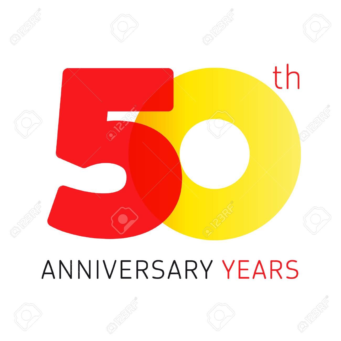 50 年古い古典的なロゴを祝いますベクトル数 50 Th 記念の年誕生日の