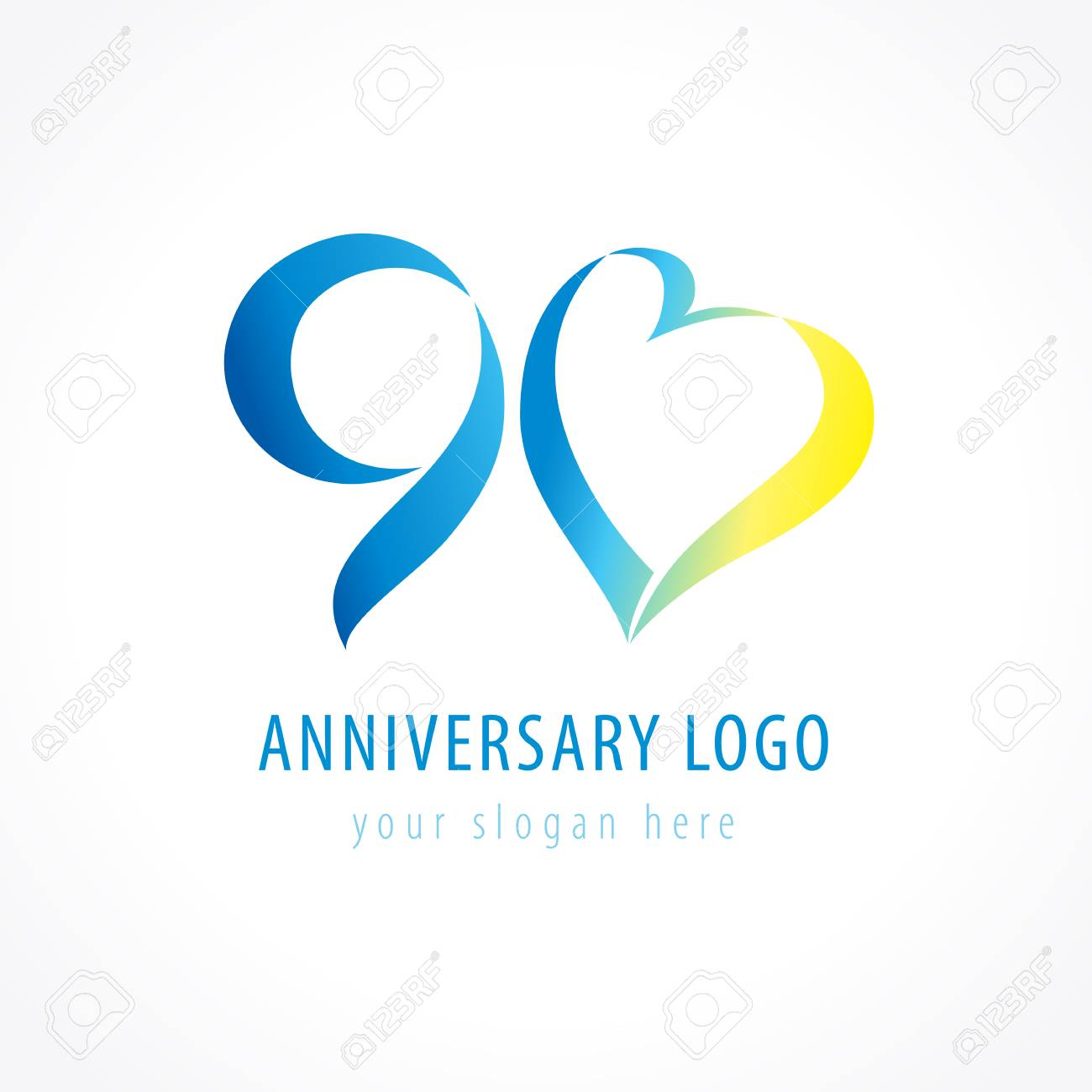 Anniversary 90 years old hearts celebrating vector digit logo anniversary 90 years old hearts celebrating vector digit logo birthday greetings with framed tape heart bookmarktalkfo Image collections