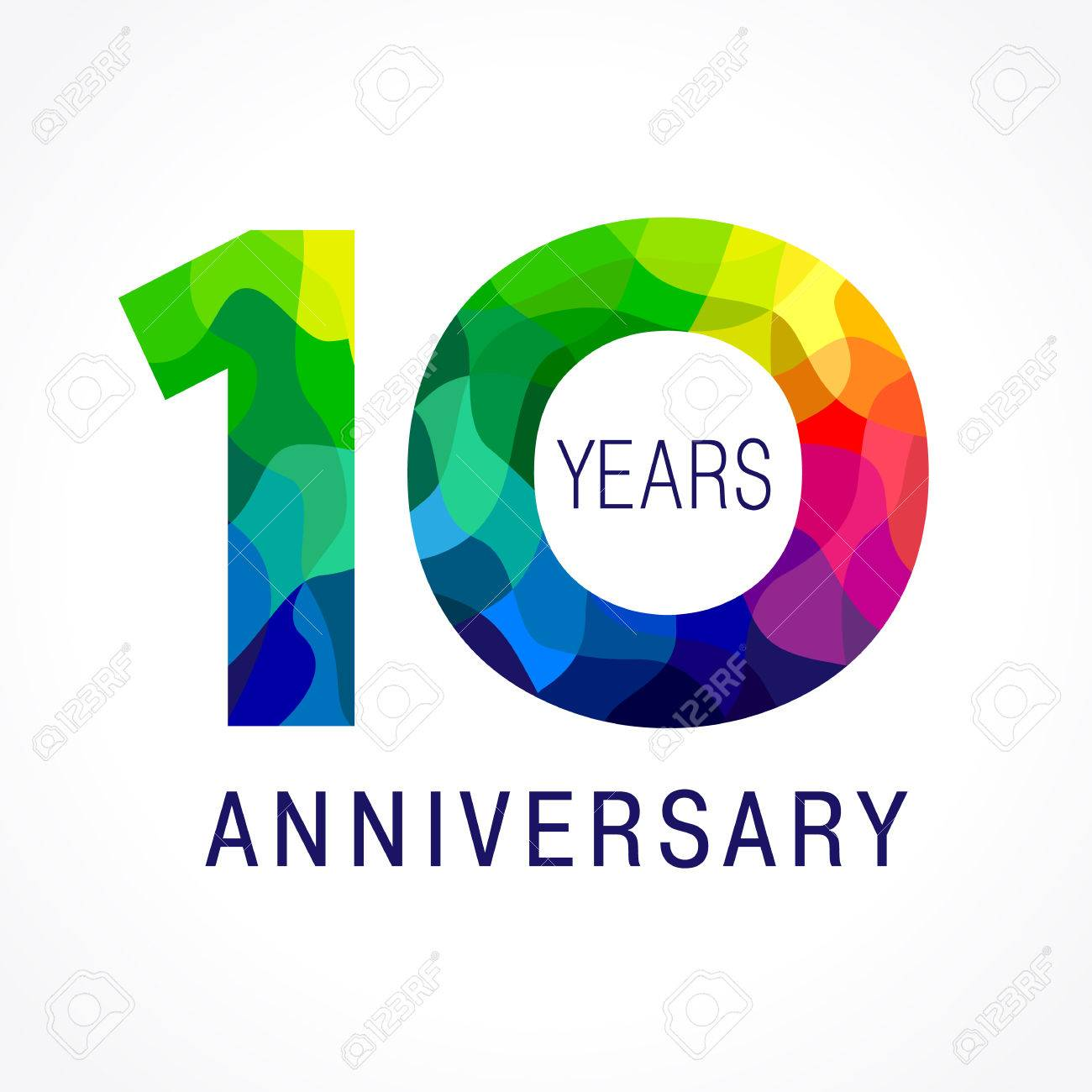 10 Years Old Celebrating Colored Logo. Anniversary Year Of 10.. Royalty  Free Cliparts, Vectors, And Stock Illustration. Image 76436090.