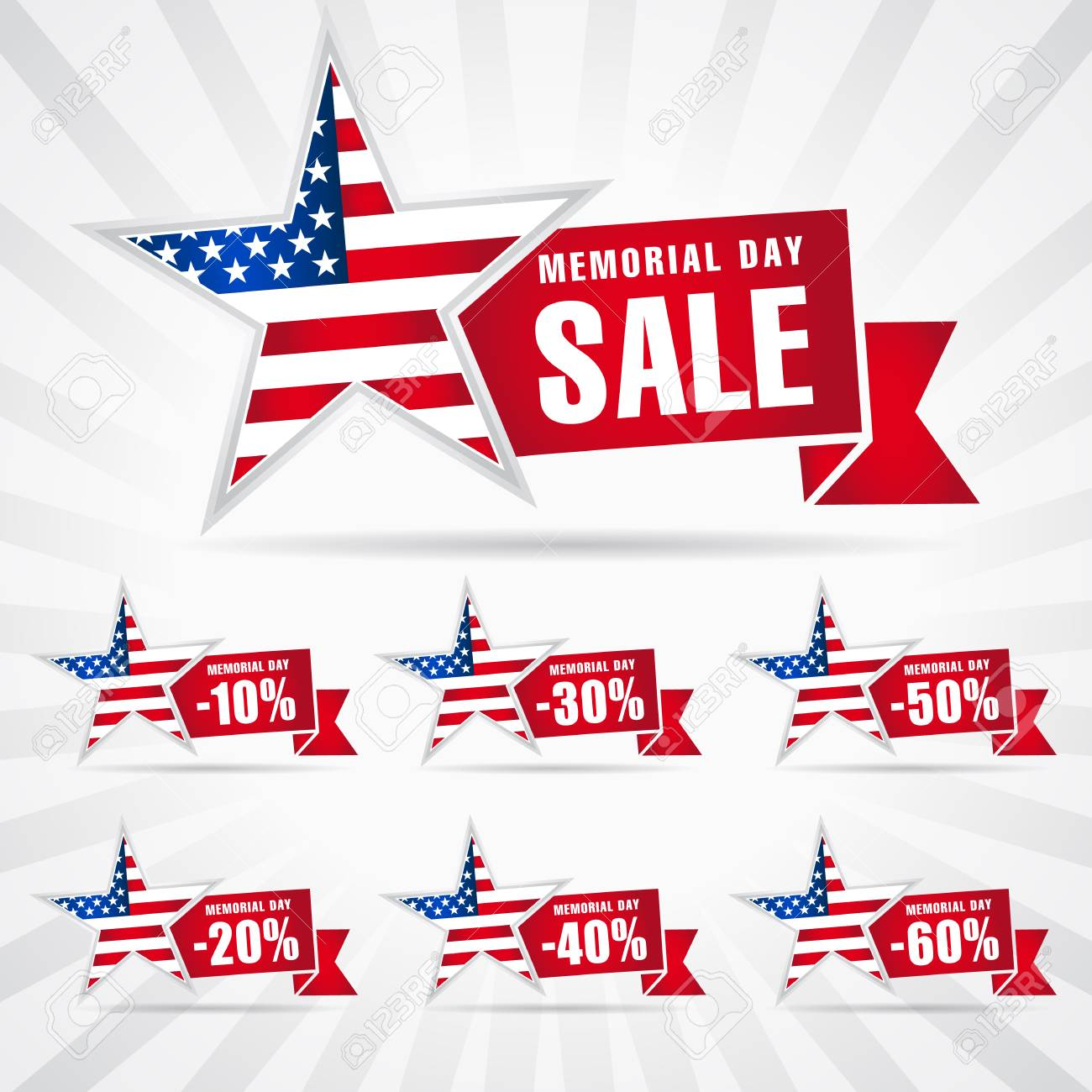 Memorial day labels Vector Image - 1515335 | StockUnlimited