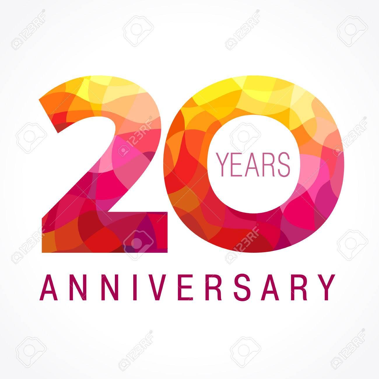 20 Ans Fêtant Le Logo De Feu Année Anniversaire Flamand Du 20ème Vector Template Flamy 0 Numbers Joyeux Anniversaire Des Célébrations En