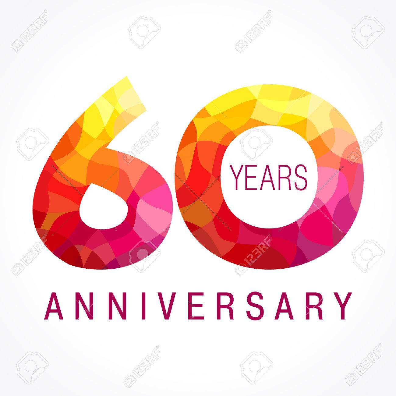 Carte de voeux 60eme anniversaire