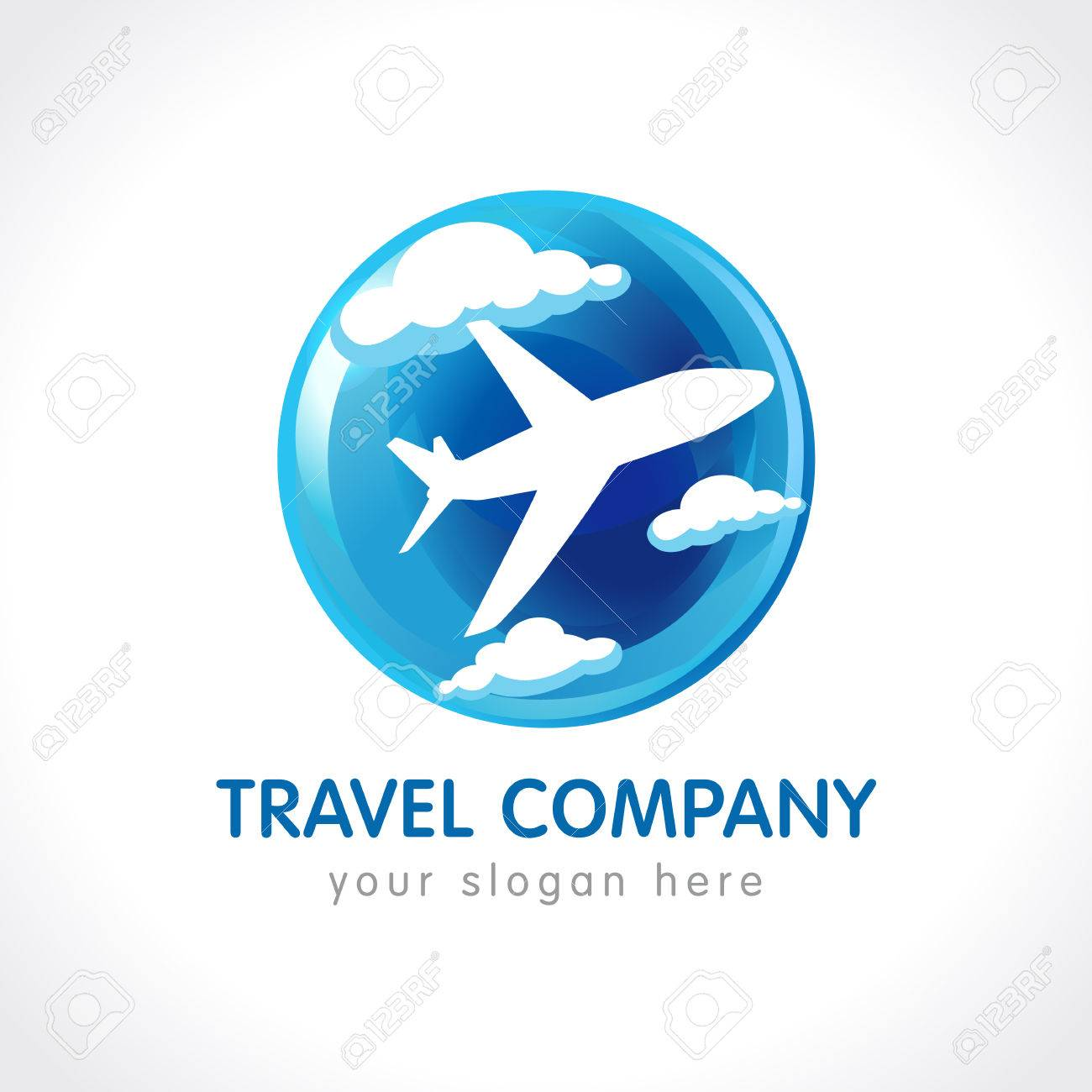 abab908d9 Travel Company Logo. World Travel Airplane Abstract Vector Icon ...