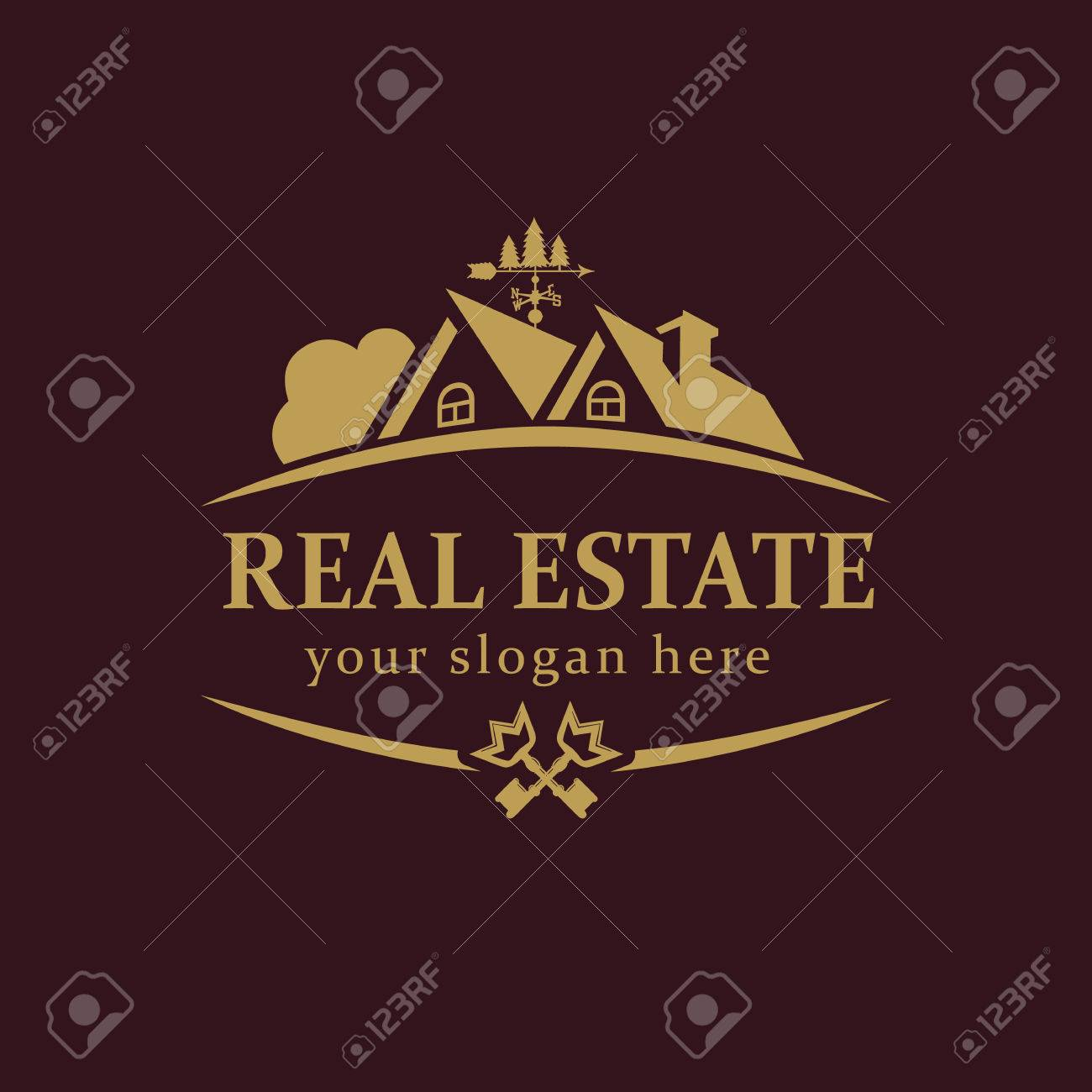 Real-estate Vector Logo. House For Sale Or Build Sign Template ...
