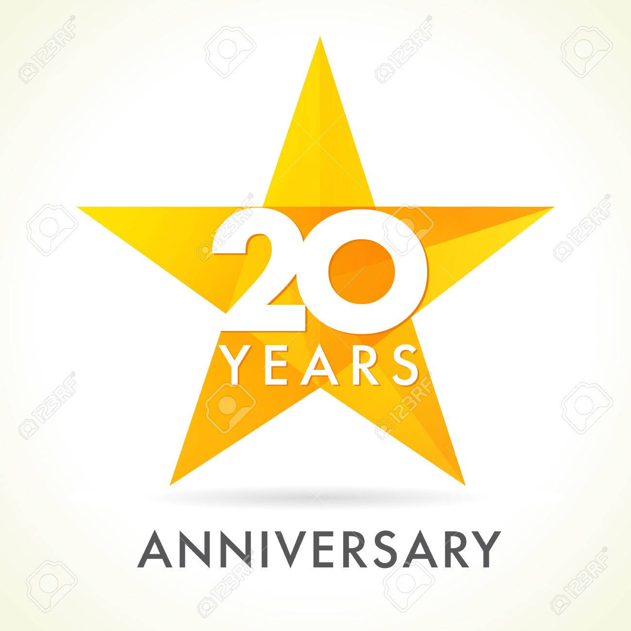 20 Jahre Altes Sternzeichen Feiernd. 20. Jahrestag Vektor Congrats ...