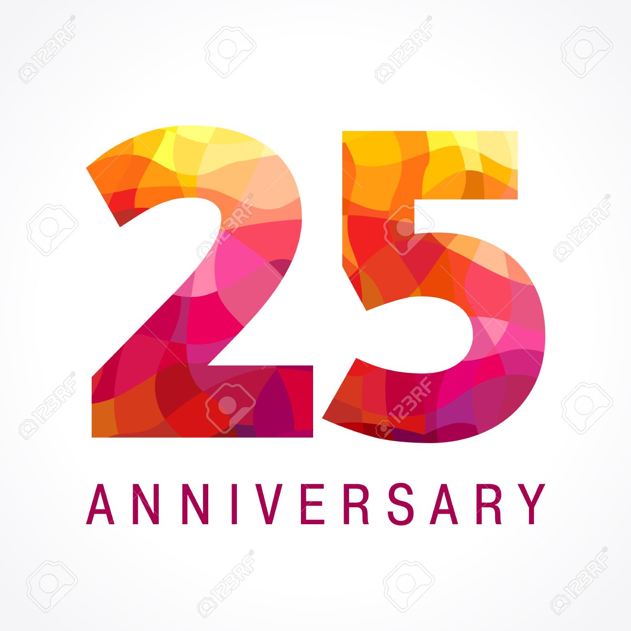 25 years old celebrating fiery logo anniversary flamed year rh 123rf com 25 years logo vector 25 years logo images