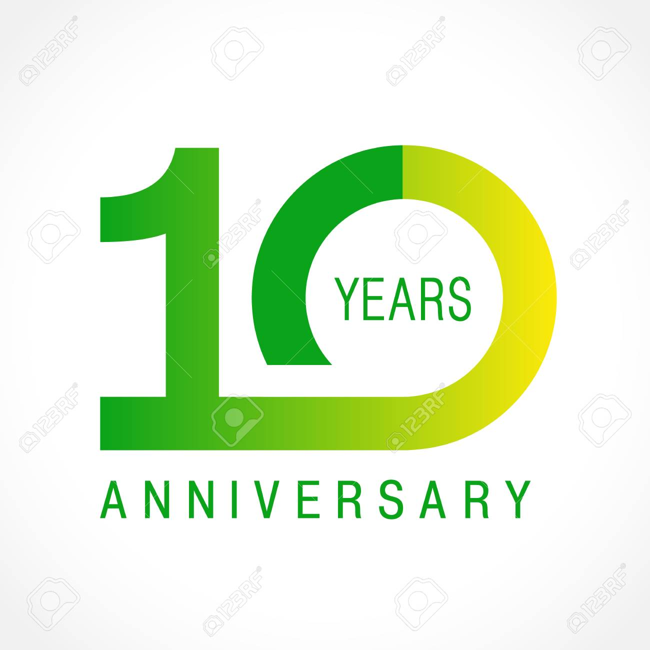 10 Years Old Celebrating Classic Logo. Colored Anniversary 10 ...
